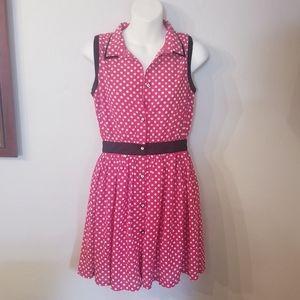 3/20$ Kling red/white polka dot retro  dress…
